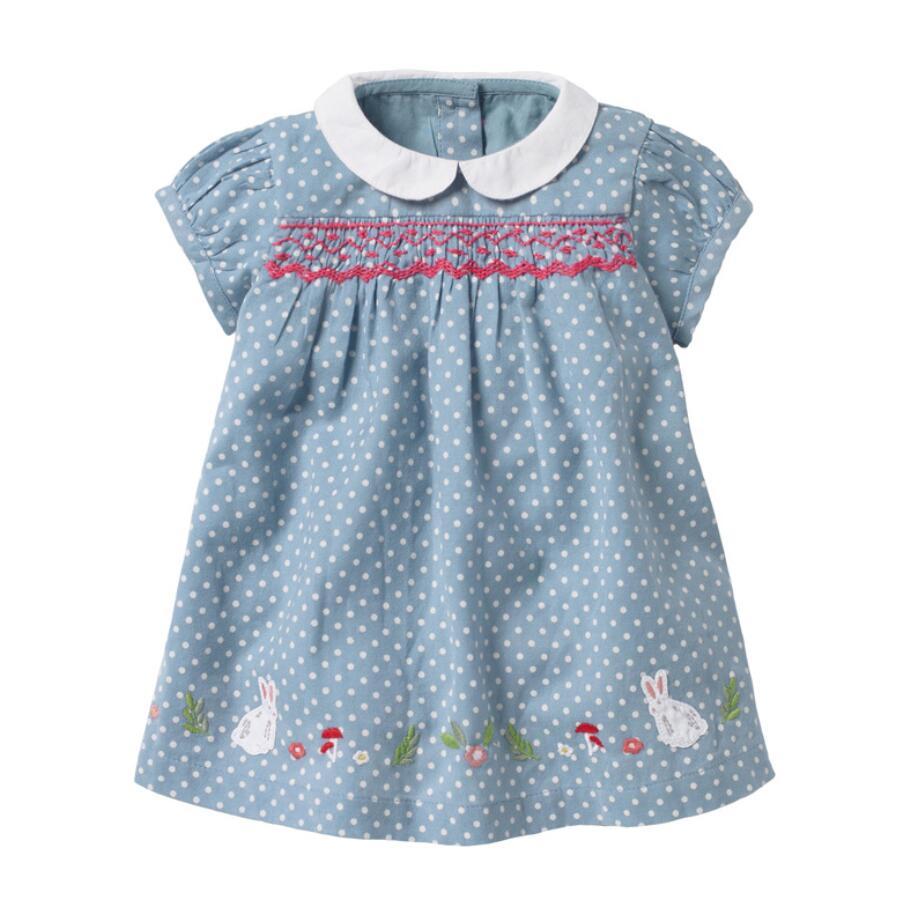 Little Maven 2021 New Summer Baby Girls Clothes Brand Dress Toddler Cotton Dot Bunny Flower Print Dresses for Kids 2-7 Years 3