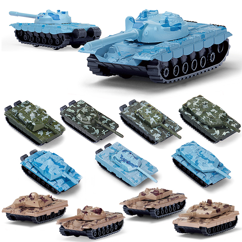 4PCS Mini Diecast Alloy Model Car Toy Truck Camouflage Tank Model Military Toy Collection Vehicle Gift For Boys Brinquedo