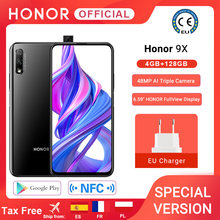 HONOR Version spéciale Honor 9X Smartphone 4G128G 48MP double came 6.59 ''téléphone portable Android 9 4000mAh OTA Google Play