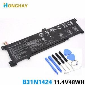 HONGHAY 11.1V 48Wh Original B31N1424 Laptop Battery For Asus A400U A401L K401L B5010 500 200 K401LB5010 K401LB5500 K401LB5200