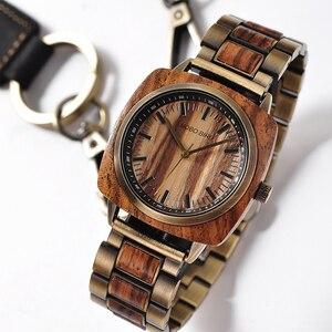 Image 3 - BOBOBIRD роскошные часы из дерева зебры, женские и мужские модные наручные часы, часы Erkek Kol Saati с подарочной коробкой, возможен индивидуальный логотип, на заказ, на заказ, с логотипом, на заказ, на заказ