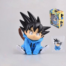 2020 NEW Anime Dragon Ball Z Son Goku Tide clothes Q vresion PVC Action Figure Model Collection Toys Gift for Kids 12cm new 20cm dragon ball z goku figure toy son goku jump 50th anniversary anime dbz model doll gift for children action figure toys