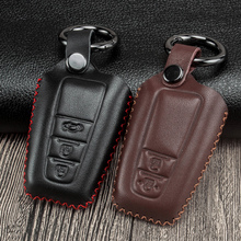 Leather Car Key Case Cover For Toyota Camry Corolla Prius RAV4 2018 C-HR CHR Prado 2017 2018  2 3 Buttons Remote Key Accessories tpu pc car key holder cover case shell chain for toyota camry corolla c hr chr prado 2018 key protection