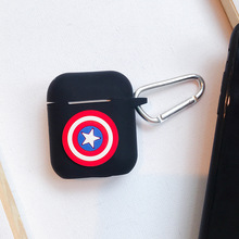 Disney Marvel cute pattern earphone shell is suitable for AirPods 1/2 cartoon wireless Bluetooth protective cover