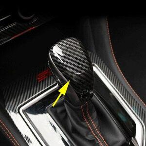 Carbon Fiber Gearshift Gear Shift Lever Knob Cap Cover For Subaru Crosstrek XV 2018+ Forester SK 2019+