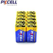 10個pkcell 6F22 9vバッテリーPPP3 6lr61スーパーヘビーデューティ乾電池非充電式ラジオ電子温度計