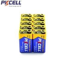 10pcs PKcell 6F22 9V סוללה PPP3 6lr61 סופר כבד החובה יבש סוללות ללא נטענת עבור רדיו אלקטרוני מדחום