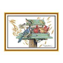 Птичье гнездо DIY ручной работы Рукоделие Счетный 14CT напечатаны крестиком комплект с вышивкой украшения дома