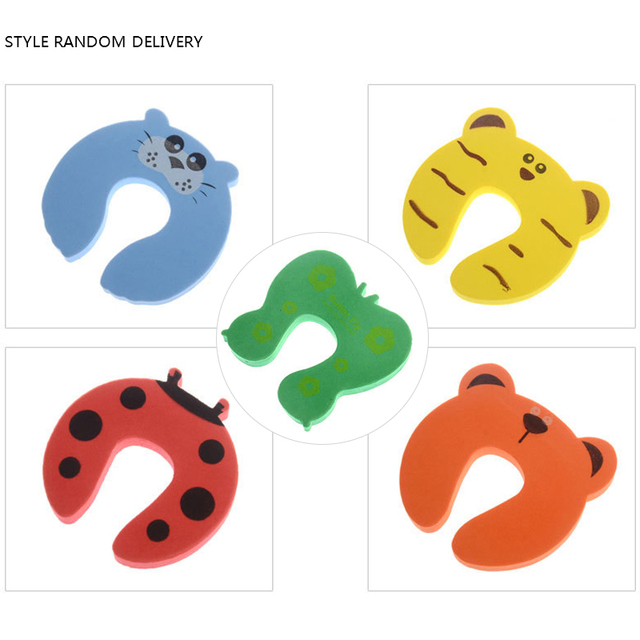 1 Pc Safety Security Door Stopper Baby Card Lock Newborn Care Child Finger Protector Infant Cute Animal Corner Guards 2