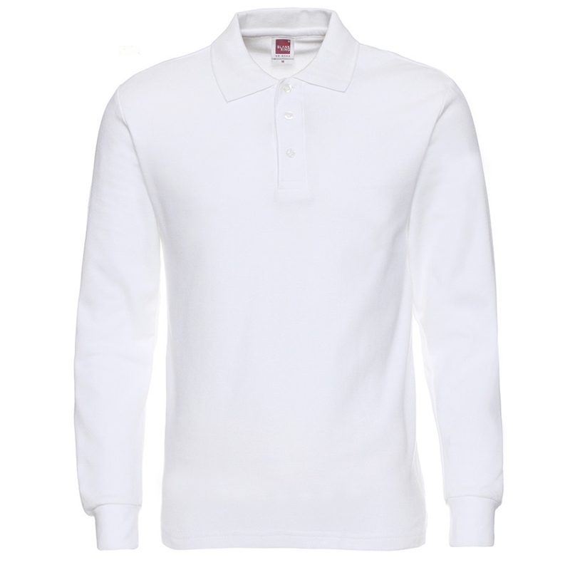 100% cotton High Quality Men Polo Shirt Long Sleeve Solid Shirts  Popular Casual Tops