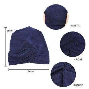 Image 5 - Хиджаб для мусульманманок, шарф, внутренняя шапка, Женский тюрбан, тюрбан, головной платок, растягивающийся, мешковатая шапка для выпадения волос
