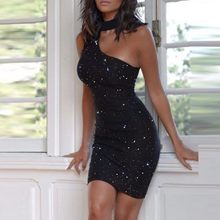 40 # vestidos de strass quentes sem mangas femininas sexy halter vestidos de um ombro hip party club vestidos longos de verao