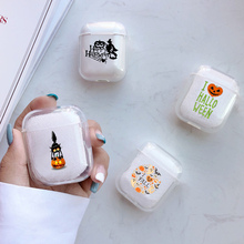 Soft Cartoon Cute Air Pods Case For Apple airpods Case Luxury Halloween Ghost Airpods Case in Bluetooth Earphone Accessories 3d lucky rat cartoon bluetooth earphone case for airpods pro cute accessories protective cover for apple air pods 3 silicone