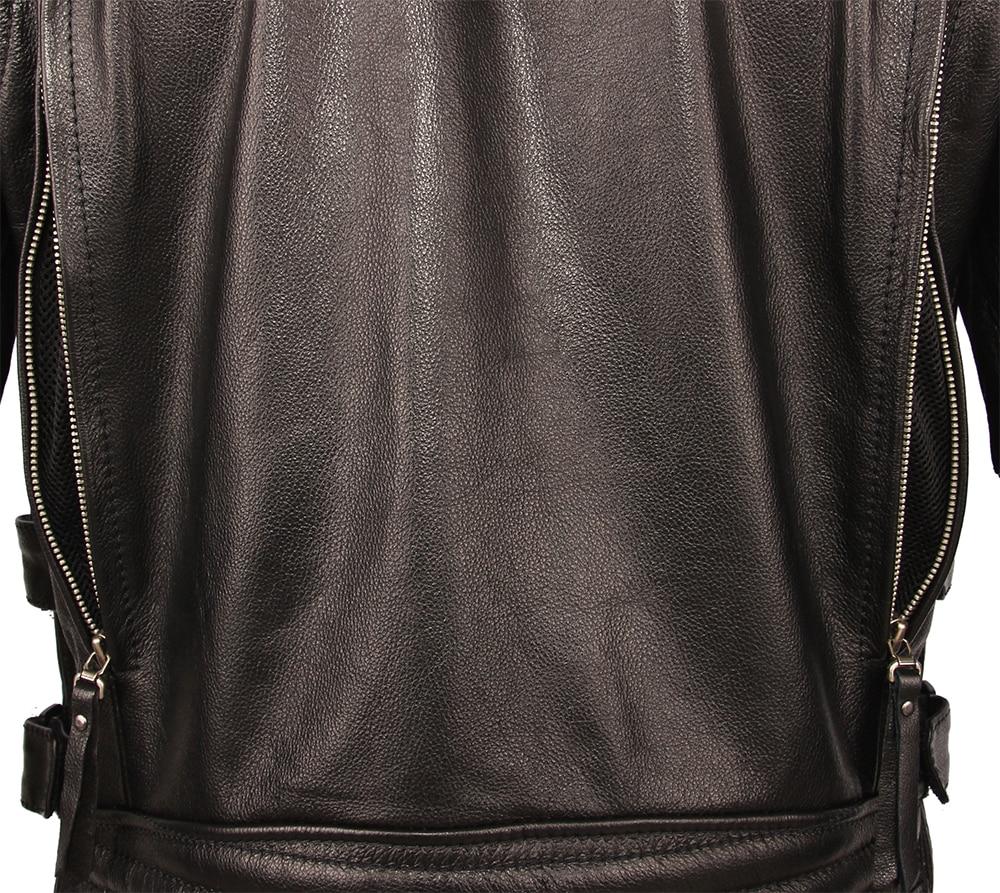 H26fb716f044f4b81814fcb3a82e3877ay Vintage Motorcycle Jacket Slim Fit Thick Men Leather Jacket 100% Cowhide Moto Biker Jacket Man Leather Coat Winter Warm M455