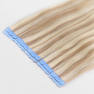 MRSHAIR Tape in Extensions Human Hair Machine Remy Mini Micro Tape Ins Double Sided Seamless Adhesive Glue Tape In Hair Blonde