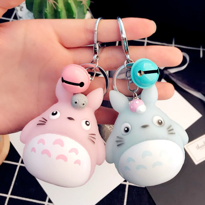 Fashion Keychains Cute Kawaii Kitten Cat Key Chain Ring Anime Totoro Keychain Creative Trinket Charm Women Girl Kids Keyring
