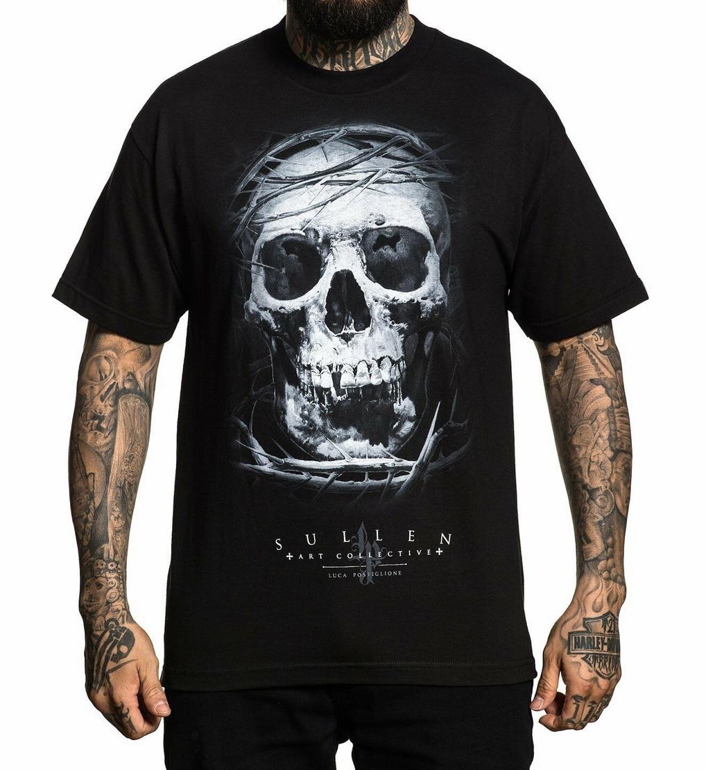 Sullen Pin Up Punk Street Bike Gothic Americana Tattoo Art Mens Tee ULIBARRI