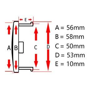 Image 2 - Tapacubos de rueda para coche KIA Sportage Sorento Rio K5 Optima para Hyundai, negro, 58mm/53mm/50mm, ajuste de 56mm, 4 Uds.