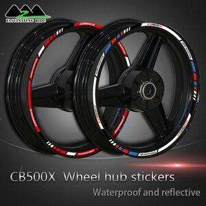Motorcycle accessories for Honda cb500x motorcycle wheel hub sticker retrofit waterproof rim edge Decal