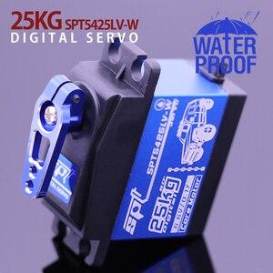 Waterproof Metal Gear SPT 5425lv-w 25kg Large Torque Digital Coreless Servo for RC Car TRAXXAS Crawler TRX4 baja boat Robot