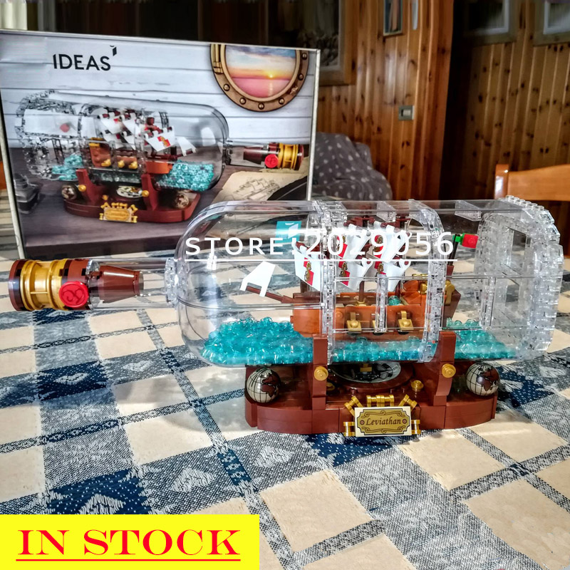 16051 In Stock Pirates of the Caribbean Ship in a Bottle Building Blocks Bricks Kids Gifts bela <font><b>21313</b></font> 16016 16002 16042 22001 image