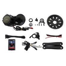 Bafang 48V 1000W Ebike Kit Set Brushless Geared Mid-Drive Motor Conversion Kits with Integrated Controller and 850C LCD Display free shipping authentic bafang 36v 350w electric bicycle bbs01 mid crank drive motor kit ebike c965 color 850c lcd conhismotor