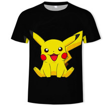 New Fashion Hip Hop Streetwear Harajuku Pokemon 3d digital printing animation Graphic unisex t-shirt Tops Casual gym Tee Shirt(China)