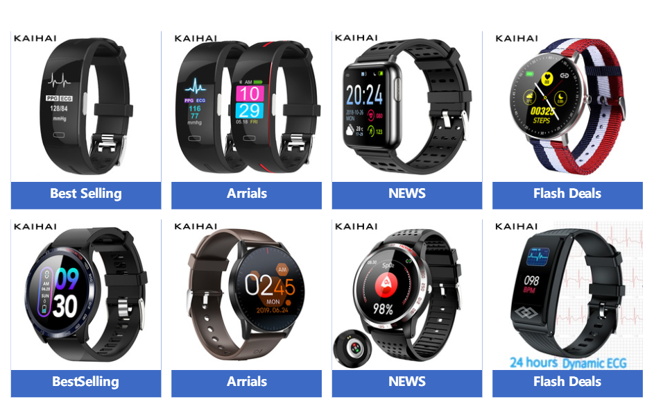 H26fc1c0aa69744f9889d11a3483c5f29Z KAIHAI H66 blood pressure measurement band heart rate monitor PPG ECG smart bracelet watch Activity fitness tracker wristband