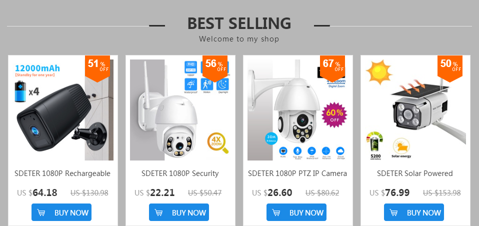 1080P Outdoor Wireless Wifi Security Camera