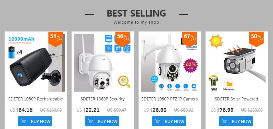 H26fc1d1818c947e2bac8244f95e6cb5eG SDETER 1080P 720P IP Camera Security Camera WiFi Wireless CCTV Camera Surveillance IR Night Vision P2P Baby Monitor Pet Camera