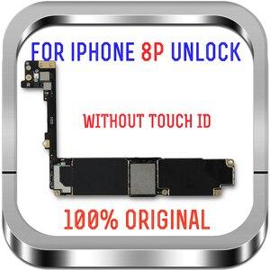 Image 2 - ICloud مجاني الأصلي آيفون 8 Plus اللوحة الأم مع معرف اللمس/بدون اللمس معرف المنطق مجلس آيفون 8 Plus MB مع رقائق