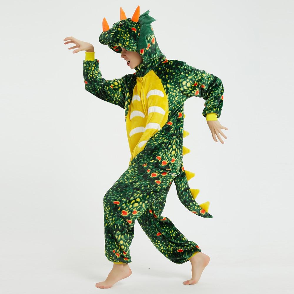 Green  Triceratops Unisex Adult Animal Pajamas Onesies Cosplay Large Cartoon One-piece Sleepwear Christmas Costume