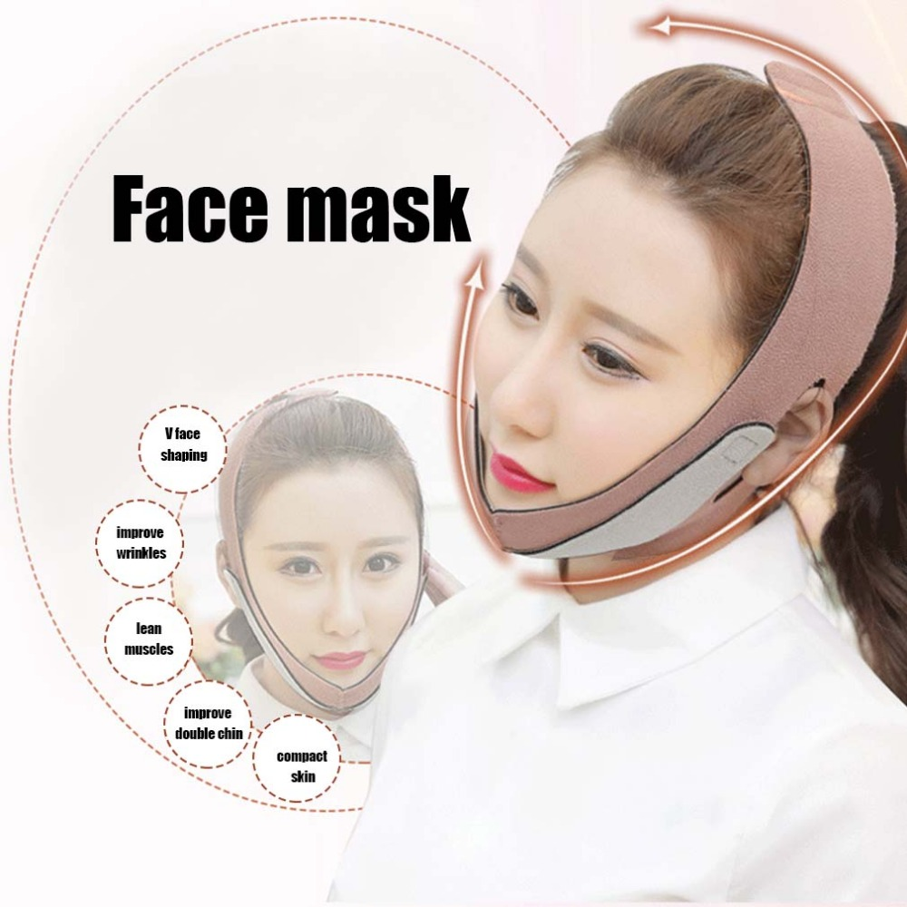 2018 New Thin Face Mask Massager Slimming Bandage Facial Thin Masseter Double Chin Skin Care Thin Face Belt Bandage Health Care
