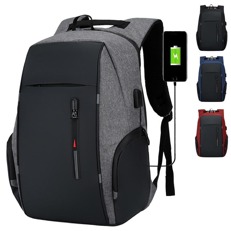 Backpack Men USB Charging Waterproof Laptop Backpack Women Casual Oxford Male Business Bag 15.6 Inch Computer Notebook Backpacks