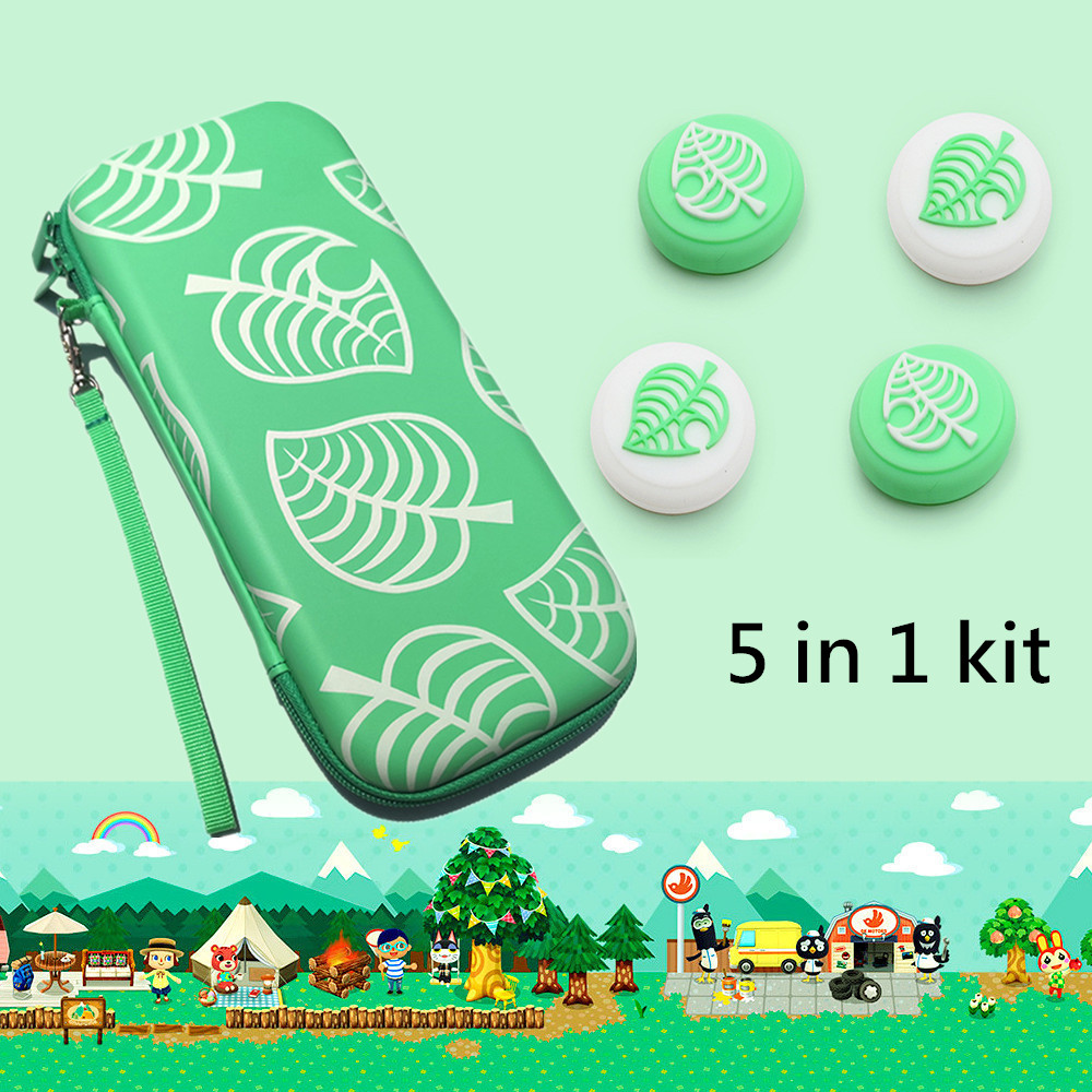 5 in 1 game accessory set Cute Portable Pouch Cover For Nintendo Switch case Travel Carrying Bag for nintend switch lite Cases