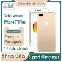 Apple iphone 7 smartphone desbloqueado 4g lte original 4.7 polegada rom 32gb/128gb/256gb 12.0mp câmera quad-core impressão digital 1960mah