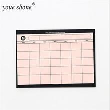 1PCS Simple Desktop Schedule This Month Plan Tear-away Note Book Work Efficiency Summary Office DailyPlanner