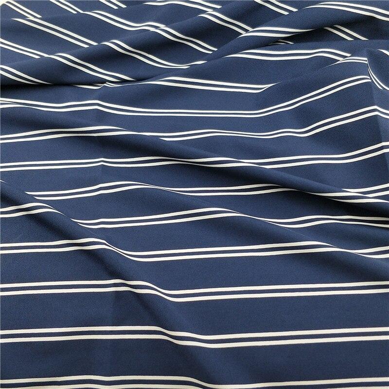 Stretchy Chiffon Stripe Dress Fabric Navy Fashion Dress fabric dress Trouser Skirt blouse Material