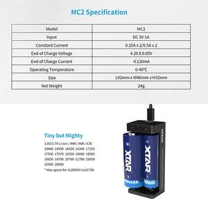 Image 5 - Xtar MC2 Di Động Sạc 5V Micro Dùng Nguồn USB 3.6 V/3/7 V IMR Inr Li ion pin 10440 26650 21700 21700 18650 Pin Sạc