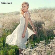 Smileven Lace Short Wedding Dress A Line Boho Bridal Dresses Knee Length Vestido De Noiva Lorie Gowns Lac Up Back