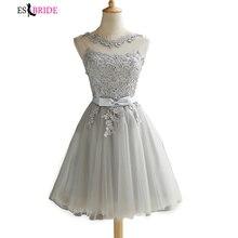 Lace Evening Dresses Short Formal Dress Party Prom dress Elegant Robe De Soiree 2019 New Gown Plus Size ES1113