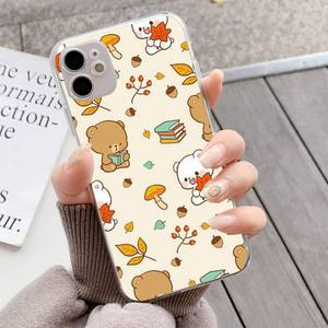 Image 5 - YNDFCNB Milk Mocha bear Phone Case for iPhone 11 12 pro XS MAX 8 7 6 6S Plus X 5S SE 2020 XR fundas