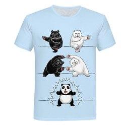 Cartoon rosyjski niedźwiedź T-shirt mężczyźni śmieszne t shirt 3D drukuj koszulka Harajuku ubrania śmieszne Hip Hop koszulki na co dzień z krótkim rękawem 6XL