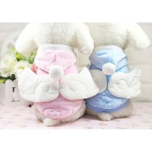 Winter Warm Pet Dog Clothes Cute Angel Wings Velvet Comfortable Small Coat Jacket Puppy Outfit Supply Decorations