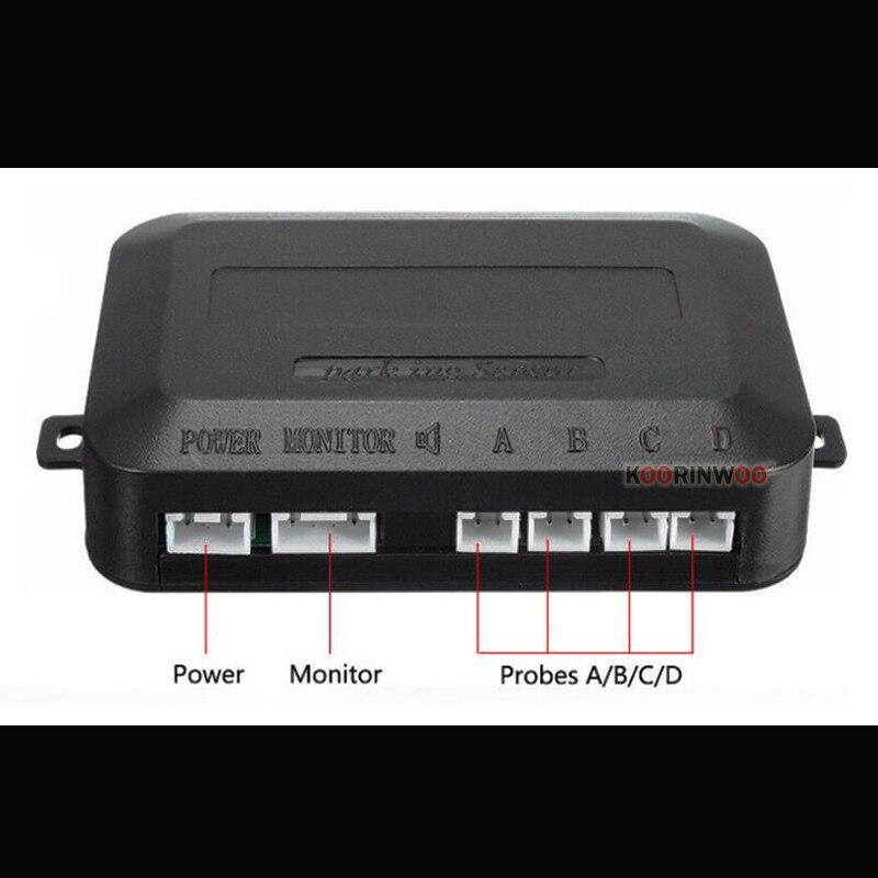 Автомобильный детектор Koorinwoo, светодиодный дисплей, датчик парковки, разноцветный набор, 4 датчика системы, автомобильный радар заднего ход...