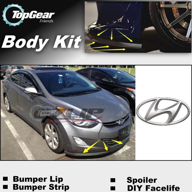 For Hyundai Avante Inokom Elantra GT i35 Neo Fludic Bumper Lip / Front Spoiler Deflector For Car Tuning / Body Kit / Strip Skirt
