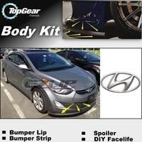 Hyundai Avante için Inokom Elantra GT i35 Neo Fludic ÖN TAMPON/ön Spoiler İçİn araba Tuning/gövde kiti /şerit etek|front spoiler|front deflectorbumper deflector -