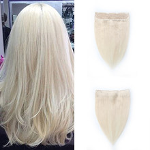 100% Remy Human Hair Double Drawn Fish Wire Hair Halo Hair Extensions