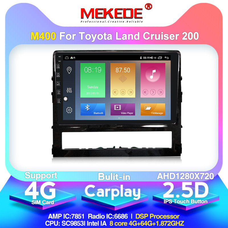 MEKEDE M400 For Toyota Land Cruiser 11 200 2015-2018 Car Radio Multimedia Video Player Navigation GPS Android 10.0 4+64G
