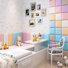 30cm/50cm Thicken kids room anti-collision soft wall stickers tatami headboard baby room shop kindergarten 3D foam wall stickers